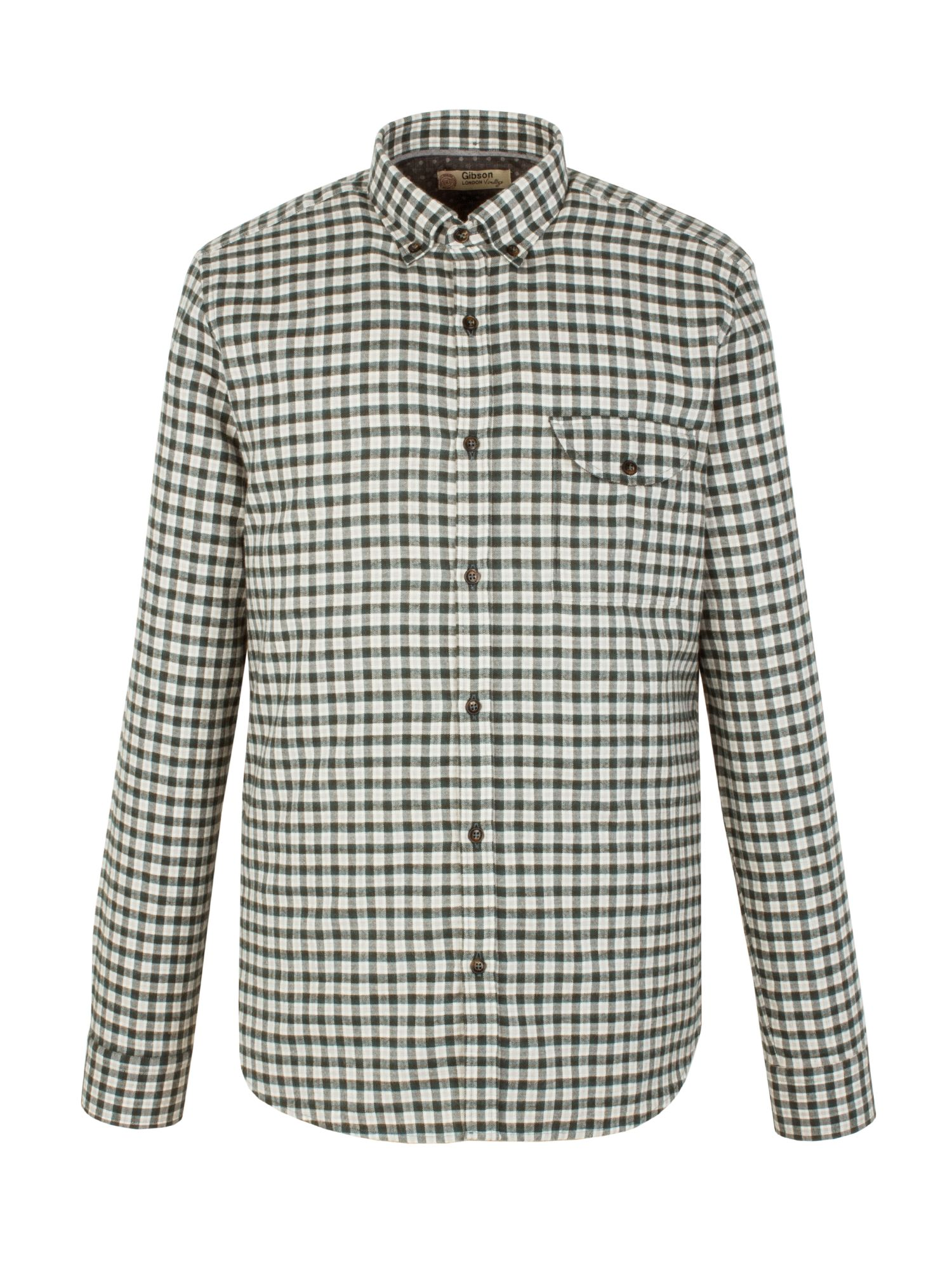 Men's Gibson Check Tailored Fit Long Sleeve Shirt, Green