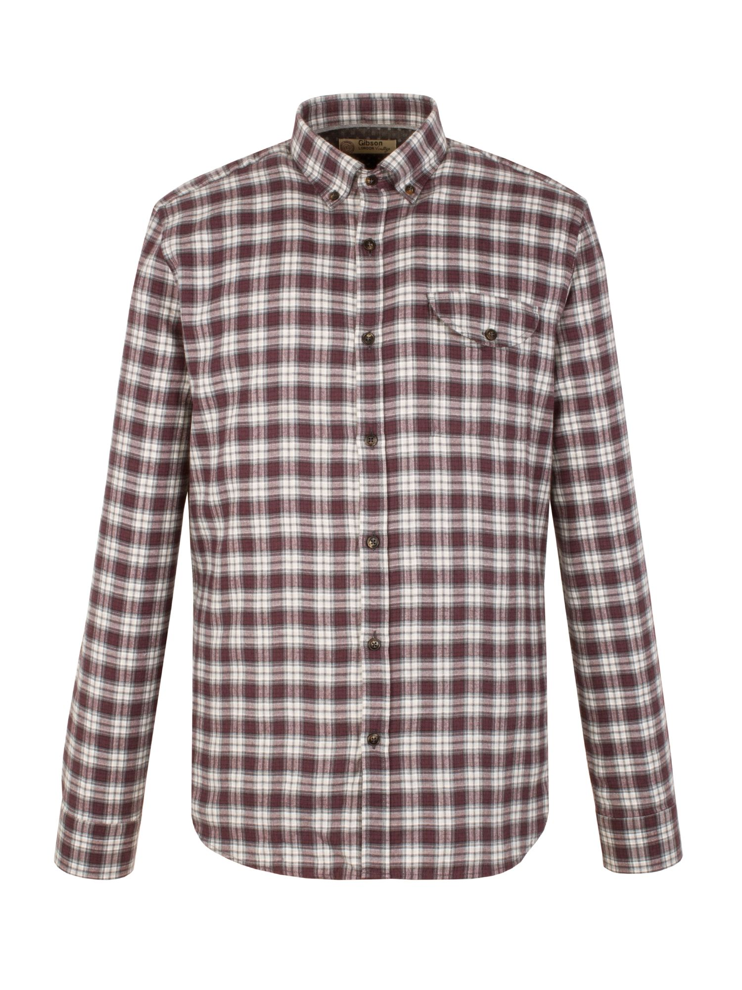 Mens Gibson Check Tailored Fit Long Sleeve Shirt $37.50 AT vintagedancer.com