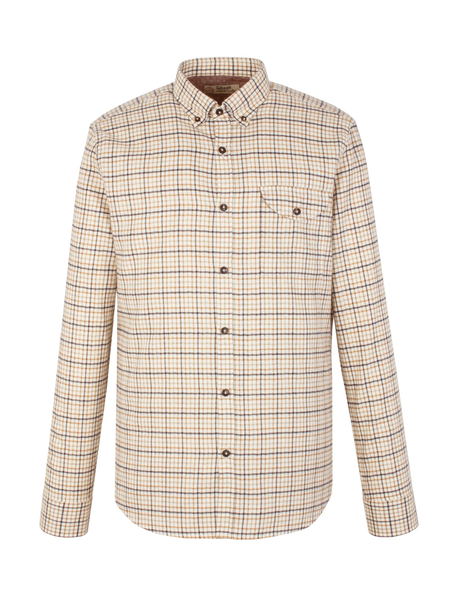 Mens Gibson Check Tailored Fit Long Sleeve Button Down Shirt $37.50 AT vintagedancer.com