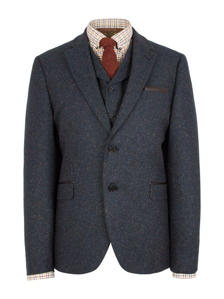 Gibson Patterned Notch Collar Tailored Fit Suit Jacket