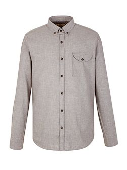 Plain Tailored Fit Long Sleeve Button Down Shirt
