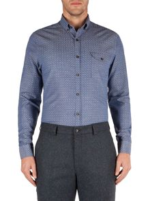 Gibson Polka Dot Tailored Fit Long Sleeve Shirt