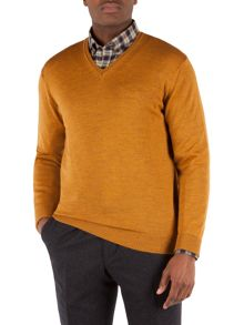Plain V Neck Jumper