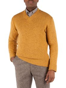 Plain Shawl Neck Pull Over Jumpers