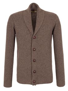 Plain Shawl Neck Button Cardigan