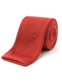 Terracotta Knitted Tie