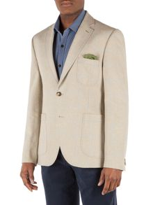 N/Awindowpane Check Button Blazer