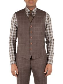 Wool Check Tailored fit Waistcoat