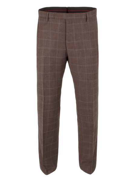 Gibson Woll Check tailored fit Trouser
