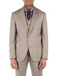 Check Notch Collar Tailored fit jacket