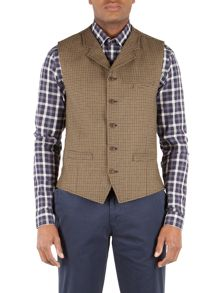 Gibson Doodson dog-tooth check waistcoat