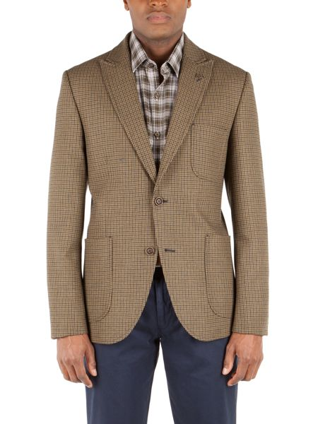 Gibson Doodson dog-tooth check jacket