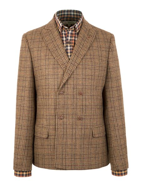 Gibson Marlow double breasted check jacket