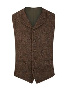 Gibson Tyburn herirng bone vest with collar