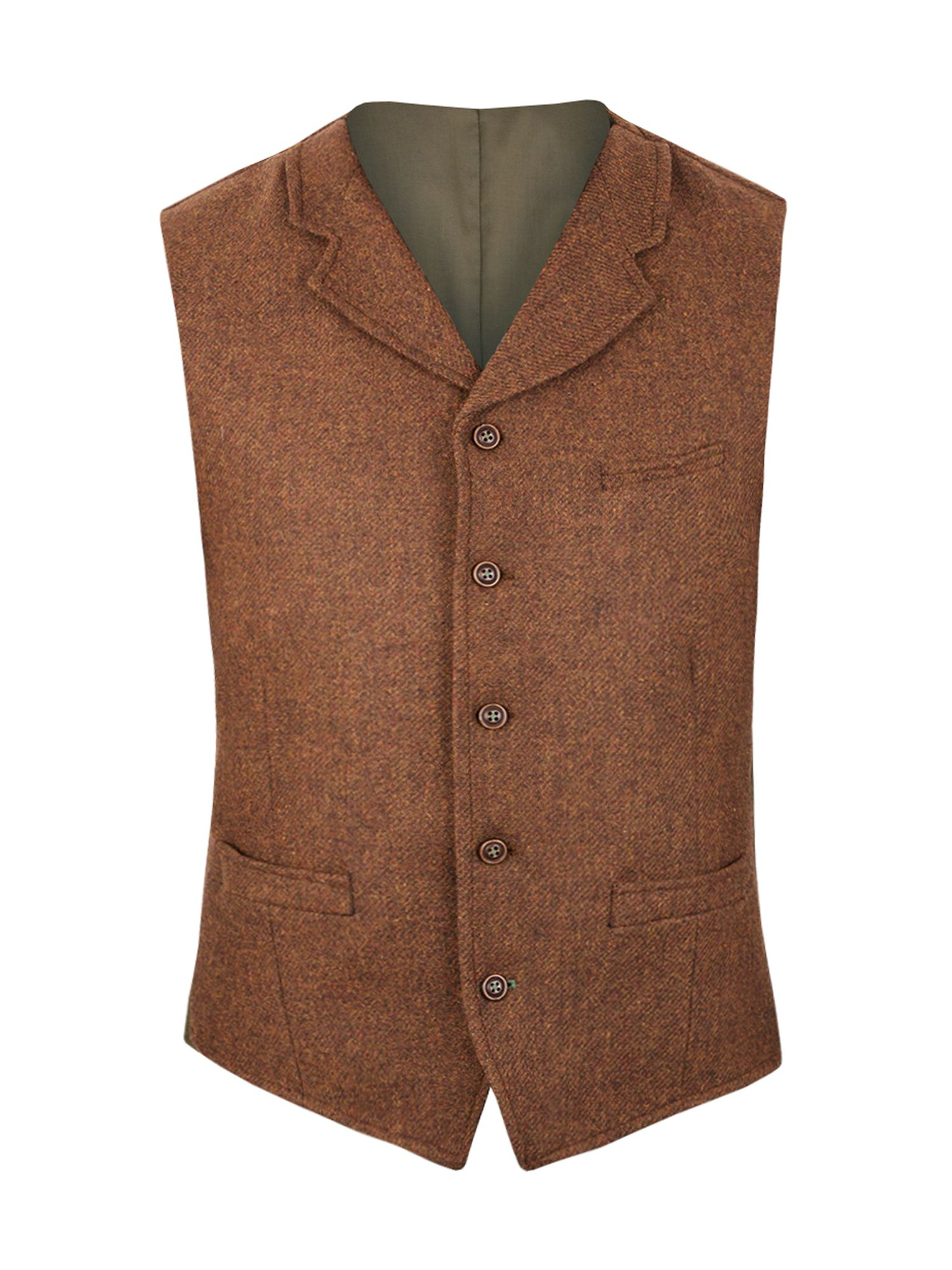1920s Style Mens Vests Mens Gibson Tyburn vest with collar £45.00 AT vintagedancer.com