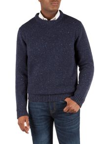 Gibson Crew neck donegal fleck