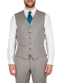 Gibson Taupe check marriott vest