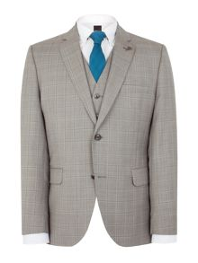 Gibson Taupe check marriott jacket
