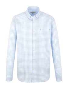 Gibson Pale blue check shirt