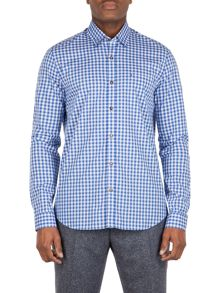 Gibson Dark blue check shirt