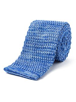 Horizontal knitted tie