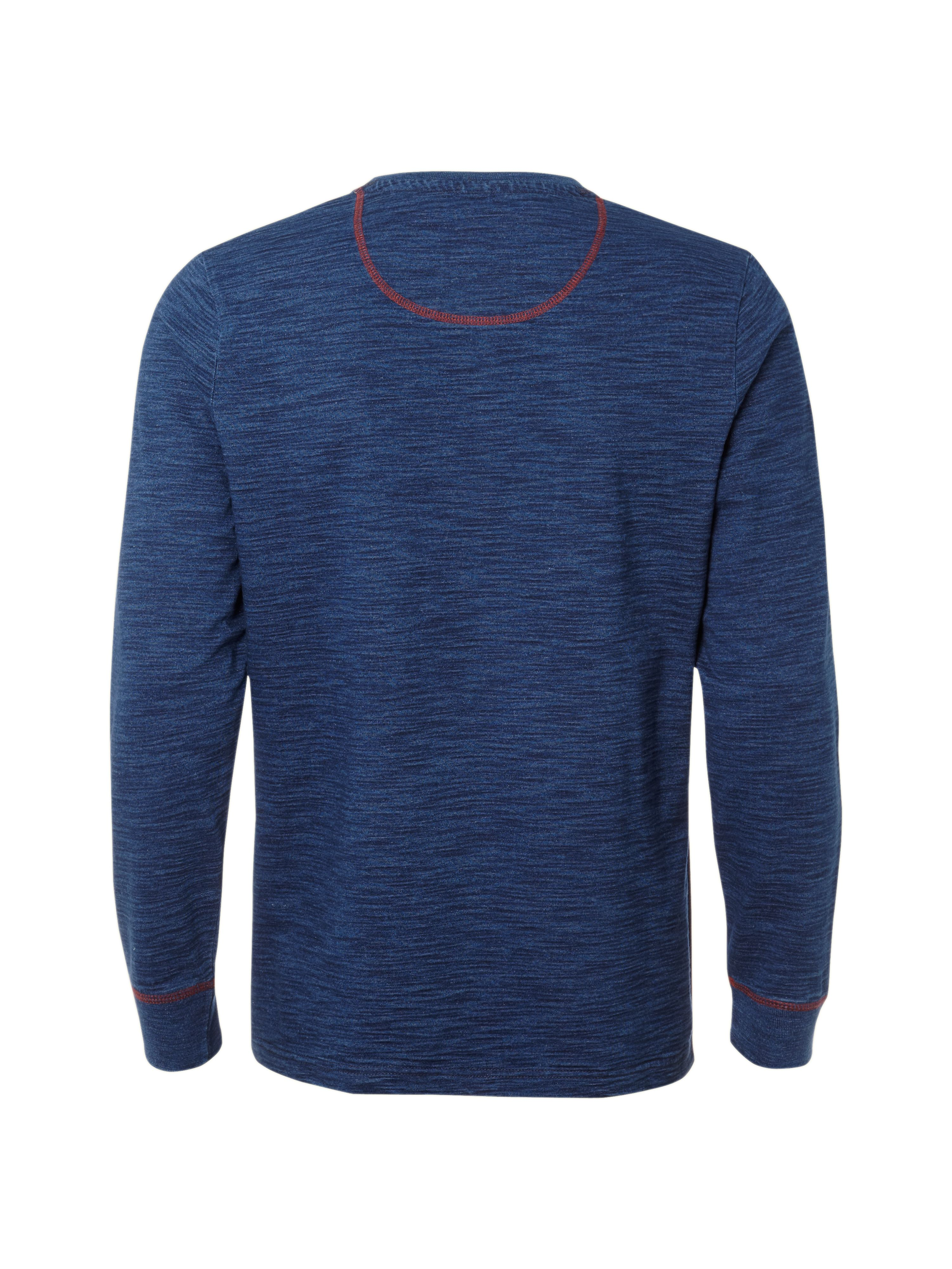 Plain indigo sweater