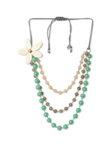 Dreaming flower layer necklace