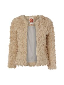 Shaggy Faux Lamb Jacket