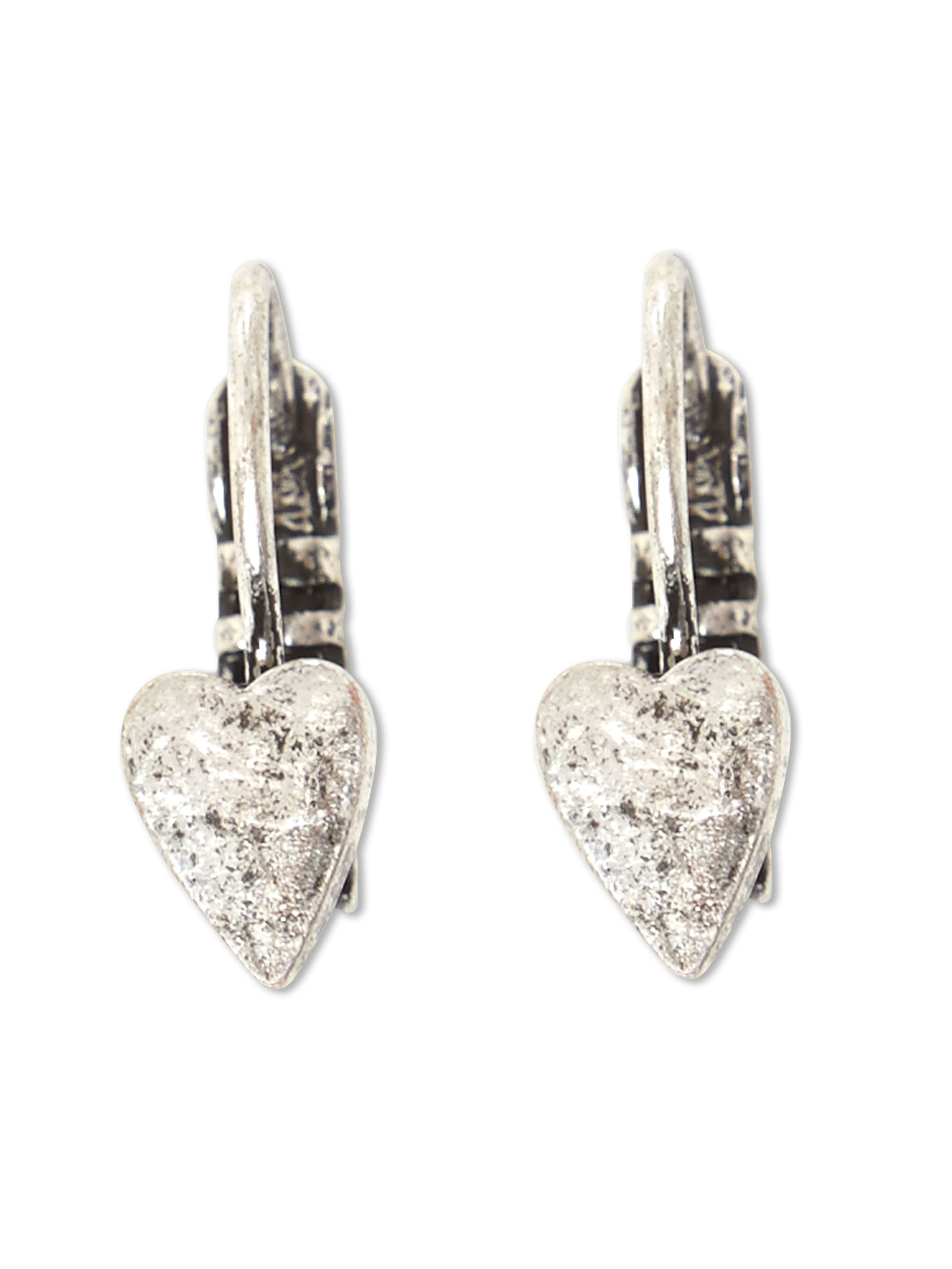 Cara Fixed Heart Drop Earring