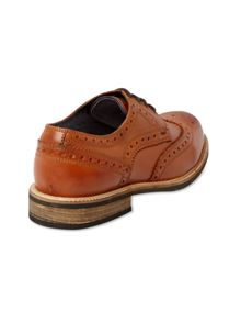 Leather Lace Up Casual Brogues