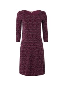 Tawny Dress Slash Neck