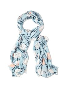 Tulip and Spot Print Scarf
