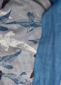 All Over Bird Print Scarf