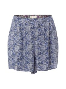 Pretty printed skirt short