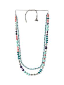Double Row Mixed Bead Necklace