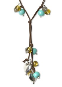 Bead And Hearts Lariat