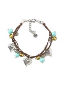 Bead And Hearts Bracelet