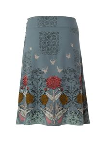 Mirrored floral rev skirt