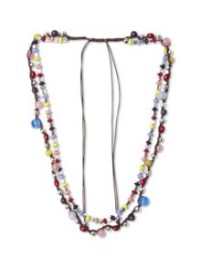 Plaited Multi Bead Necklace