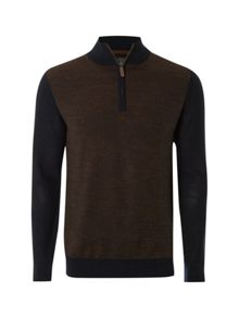 Excuse Jacquard Funnel Knit