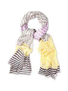 Patched stripe scarf