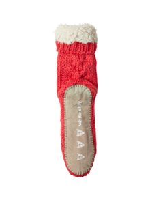 Cable Chunky Slipper Sock