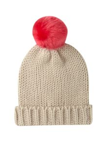 Annabel Bobble Colour Fur Hat