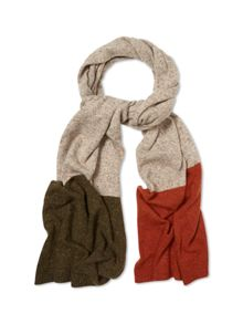White Stuff Craig colour block scarf