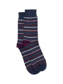 Seb Stripe Trainer Socks