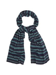 White Stuff Max stripe scarf
