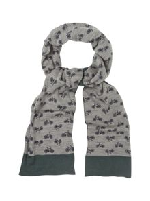 White Stuff Bike print scarf