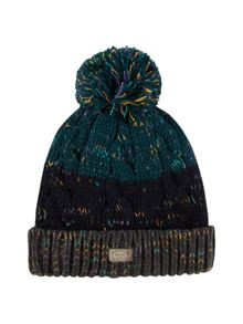 White Stuff Colour block bobble hat
