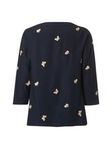 Embroidered Butterfly Top