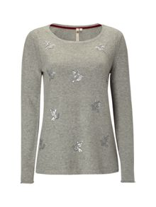 White Stuff Hummingbird Sequin Jumper